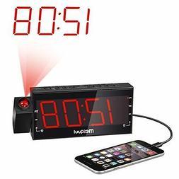 Mesqool AM/FM Digital Dimmable Alarm Radio