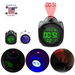 US Digital Alarm Clock Voice Talking LCD LED Wall/Ceiling Pr