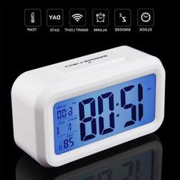 US Digital LCD Snooze Electronic Alarm Clock with LED Backli