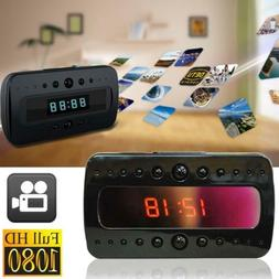 US SPY Hidden Camera Alarm Clock Remote RF Night Vision Moti