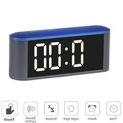 US Stock Large Digital LED Alarm Clock Snooze USB/Battery So