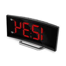 Marathon USB Alarm Clock Charger with 7 Inch Dimmable Curved