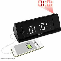 Electrohome USB Charging Alarm Clock Radio with Time Project