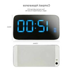 USB Large LED Digital Alarm Snooze Clock Voice Control Time