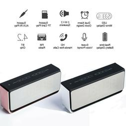 USB Wireless Bluetooth Speaker LED Light Alarm Clock With Ra