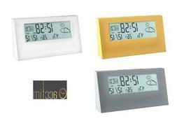 ACCTIM Vertex Weatherstation Alarm Clock with Snooze, Mutilf