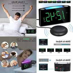 Vibrating Loud Alarm Clock W Bed Shaker For Heavy Sleepers D