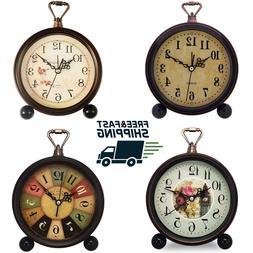 Vintage alarm clock old fashion retro Shelf desk table silen