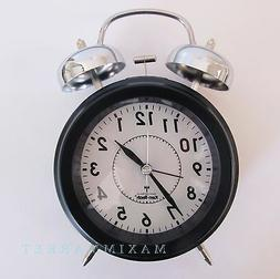 Vintage Atomic Radio Controlled Clock with Twin Mechanical B