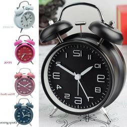 Vintage Extra Loud Alarm Clock Silent Analog NO TICK Retro N
