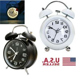 Vintage Extra Loud Alarm Clock Twin Bell Battery Analog Retr