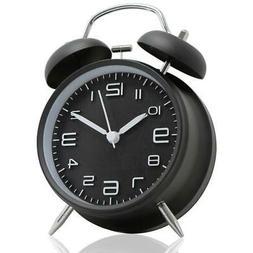 Vintage Extra Loud Analog Classic Alarm Clock Twin Bell Batt