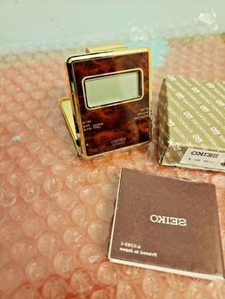 Vintage Folding Seiko Travel Alarm Clock ~ Pocket ~ Desk ~ C