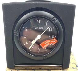 Seiko Vintage Folding Travel Alarm Clock QXT004 Black & Blac