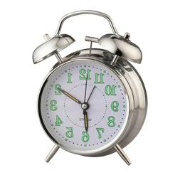 Vintage Glow in the Dark Alarm ClockMade with durable meta