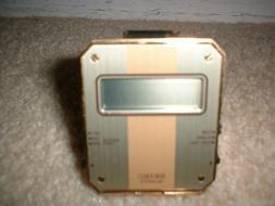 Vintage Mini Seiko Quartz Digital Folding Travel Alarm Clock
