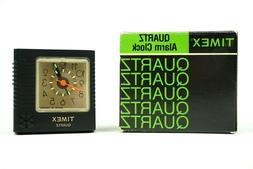 Vintage Timex Quartz Alarm Clock NOS New Black 7809-012 Lumi
