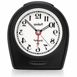 Vintage Quiet Alarm Clock Auto Nightlight Battery Operated N