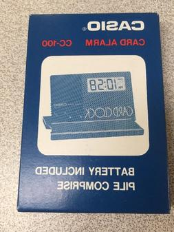 VINTAGE + RARE Casio CC-100-4A CARD ALARM Clock Quartz BIG L