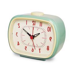 Vintage Retro Old Fashion Quiet Non-ticking Analog Alarm Clo