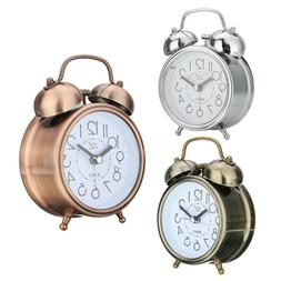 vintage silent alarm clock loud twin bell