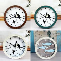 Vintage Silent Wooden Bedside Alarm Clock Various Cute Patte