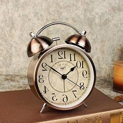 LambTown Vintage Twin Bell Alarm Clock Old Fashioned Desk Cl
