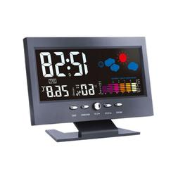 voice activated time alarm snooze weather station
