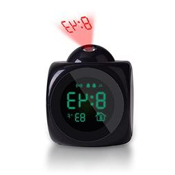 Voice LCD Screen Alarm Digital Clock Time Wall Ceiling Proje