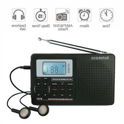 Retekess VT-111 Portable AM/FM/SW FM Shortwave Radio with Cl