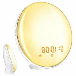 Wake Clock Radios Up Light, Alarm Compatible With Alexa And