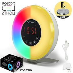 Alarm Clock Radio Digital Sunrise and Sunset simulation Wake