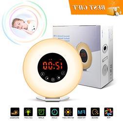 Wake Up Light Sunrise Alarm Clock with Sunrise/Sunset Simula