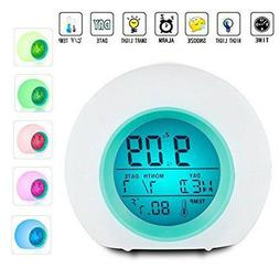 Wake Up Light Clock For Kids Child Toddler Adults 7 Colors C