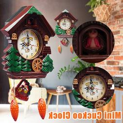 Wall Clock Cuckoo Clock Living Room Bird Alarm Toys Modern B