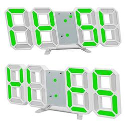 LED Wall Clock,3D LED Digital Alarm Clock Electronic Office