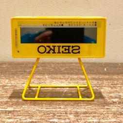 SEIKO CLOCK Watch / SPORTS TIMER CLOCK MINI Yellow SQ815Y Fr