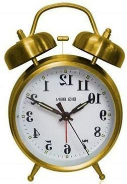 Bigben Westclox Big Ben Twin Bell Alarm Clock 70010G ea Gold