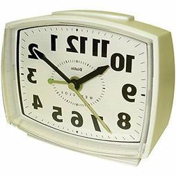 Wht Quartz Analog Alarm Clock