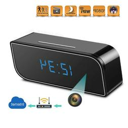 WiFi 1080P HD IP Camera Alarm Clock Video Recorder Wireless
