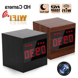 WIFI Full HD 1080P Spy Camera Hidden Cam Alarm Clock Night V
