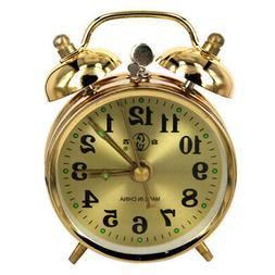 Wind Up Twin Bell Alarm Clock Mechanical Clock Loud Wind-Up