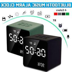 Wireless bluetooth 4.2 Speaker Alarm Clock MP3 Radio Aux TF