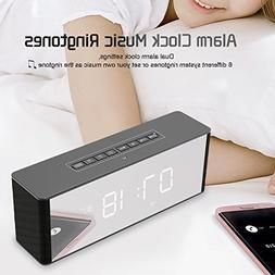 Ahead Wireless Bluetooth Speaker with Clock Alarm, Portable