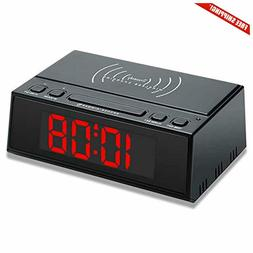 DreamSky Wireless Charging Alarm Clock, Compatible with iPho