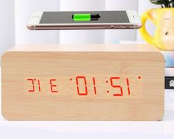 Wireless Charging Digital for IPhone & Android with Alarm Cl