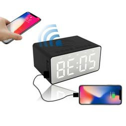 Wireless Charging Projection Snooze Digital Alarm Clock LED