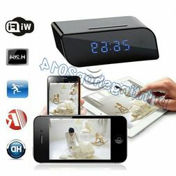 Wireless IP Spy Hidden Camera Alarm Clock Security Cam DVR N