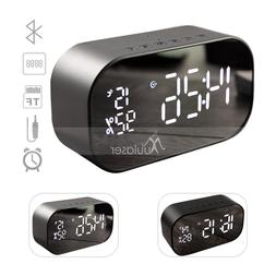 Wireless LED Bluetooth Speaker Bass FM Radio Alarm Clock USB