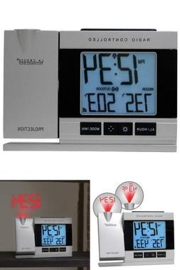 Wireless Projection Alarm Clock With Indoor Outdoor Temperat